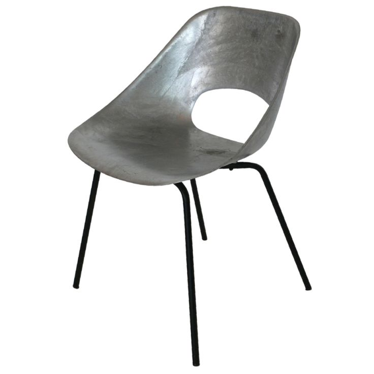 """Tonneau"" Cast Aluminum Chair by Pierre Guariche 