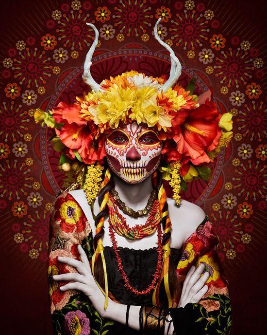 メキシコの「死者の日」にインスピレーションを受けたアートフォト