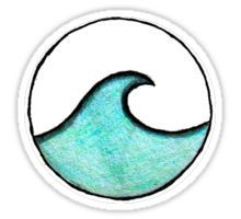 circle wave Sticker