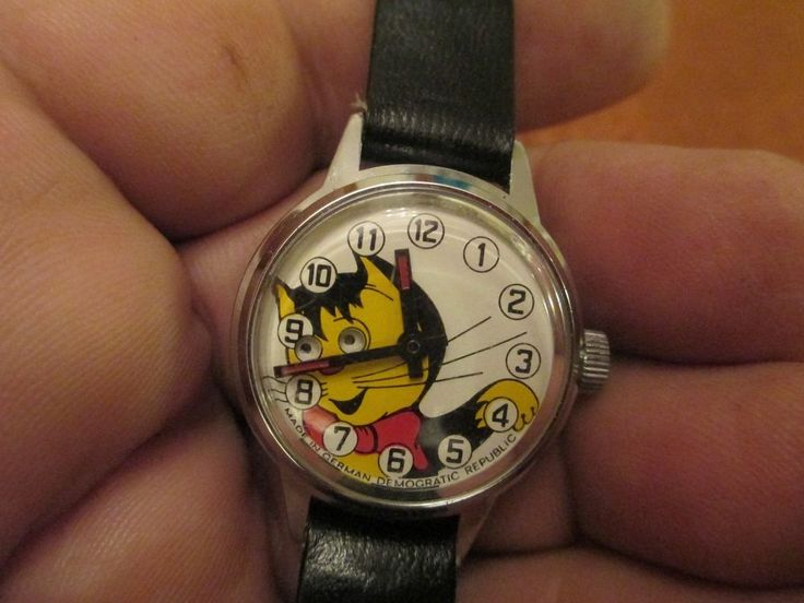 KITTY CAT WATCH WITH MOVING EYES AS THE SECONDS GO BY #Ruhla #NOVELTY