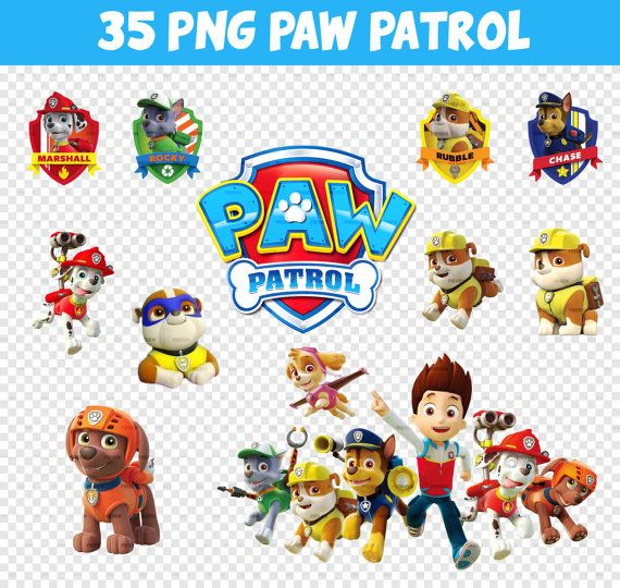 Perfect for doing all the birthday decorations myself =) 30 Images Paw Patrol PNG