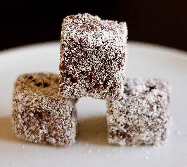 Lamingtons, a traditional cake for Austraia Day, Jan. 26th