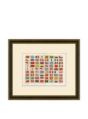 50% OFF Antique Lithographic International Flags, 1894-1904