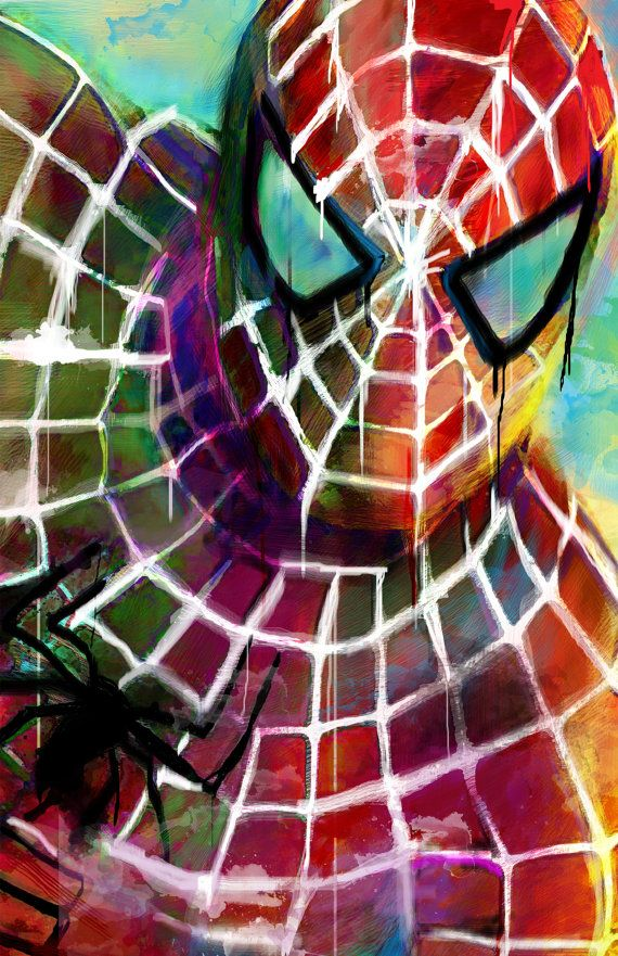 Spiderman art https://www.etsy.com/listing/183291087/new-spiderman-art-canvas-20-x-30-x-1-12