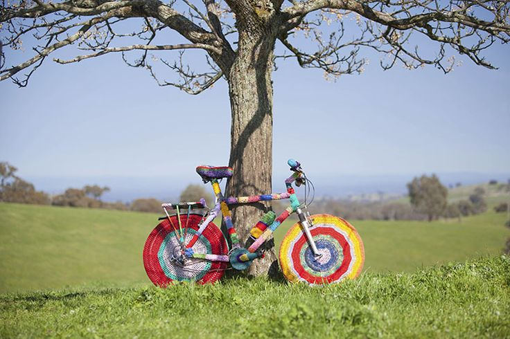 Yarn Bombed Biking in Victoria's High Country