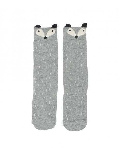 Our Kid Grey Fox Knee High Socks: Super cute knee high fox socks ideal for 0-2 (small) and 2-4 (medium) year olds. Perfect for wearing with wellies.