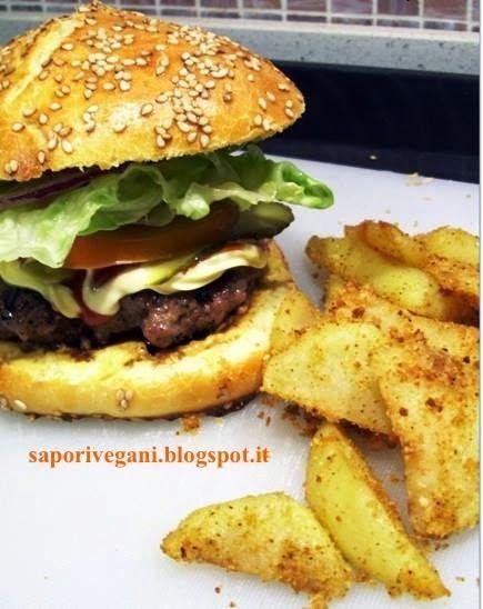 Veg burger agli spinaci