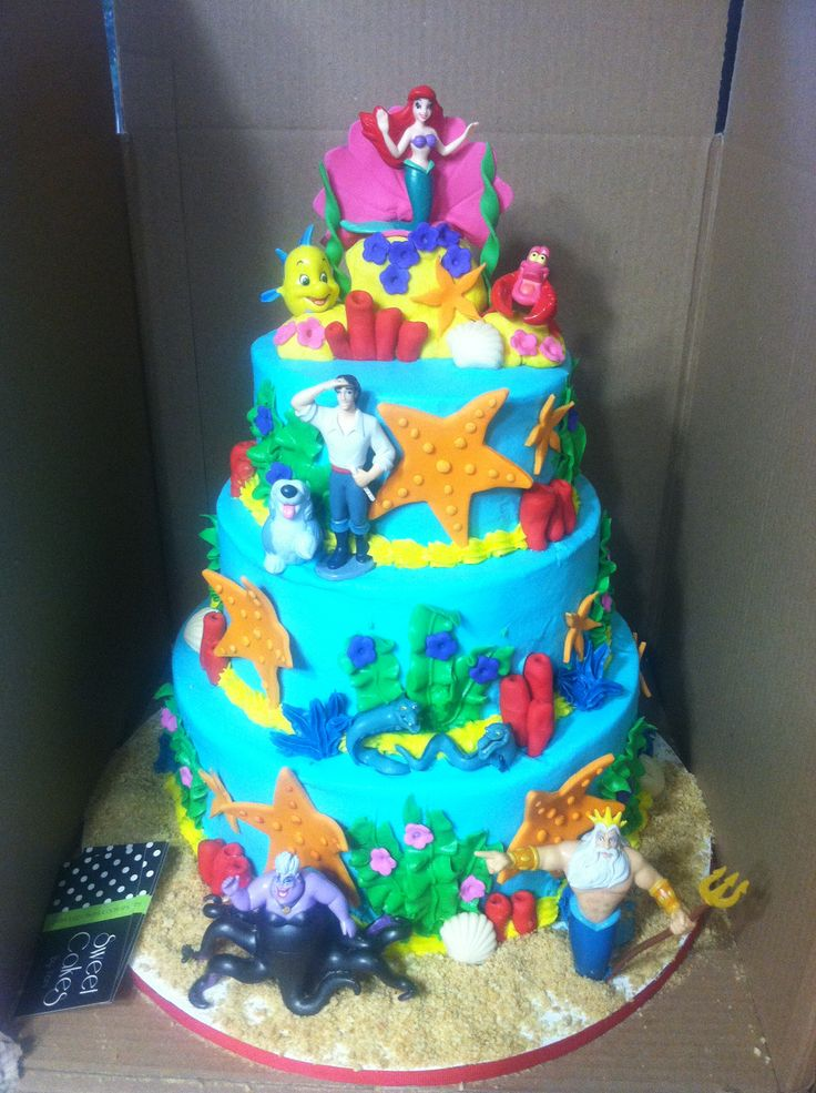Birthday Cake Ideas Little Mermaid Dmost for