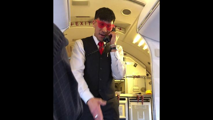 Flight attendant Jym freestyles the safety message. Delta airlines. https://youtu.be/0zwLnPh3bow