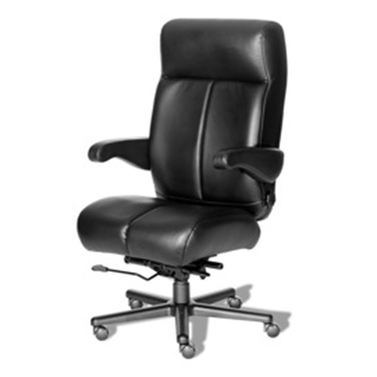 24 7 big and tall chair with flip arms in vinyl officechair