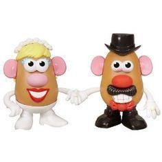 Wedding anniversary gifts:Mr. and Mrs. Potato Head 60th Anniversary Mashly in Love Set