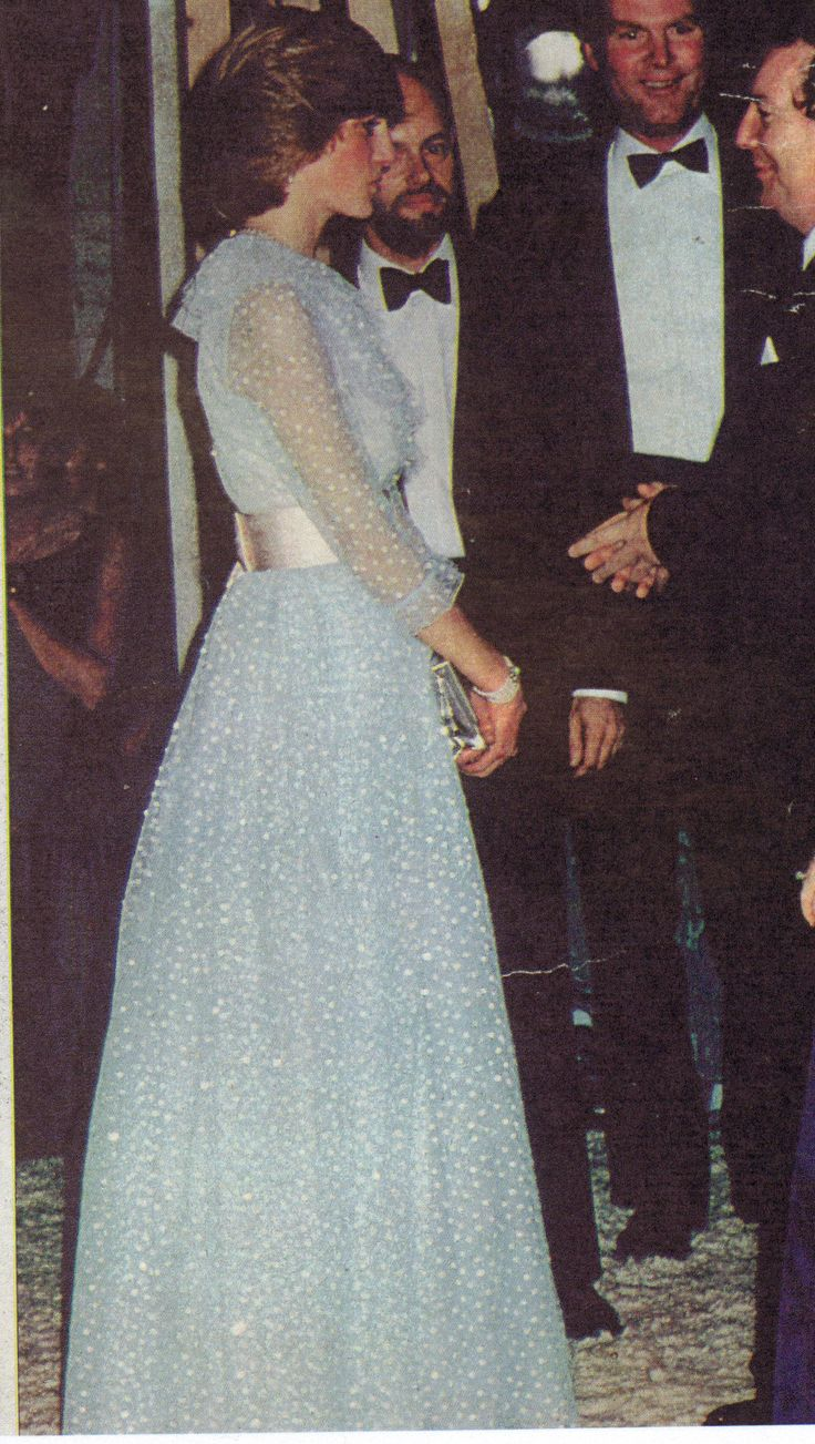 "October 29, 1982: Princess Diana at a charity performance by the Welsh National Opera of Mozart's ""The Magic Flute"" at the New Theatre, Cardiff."