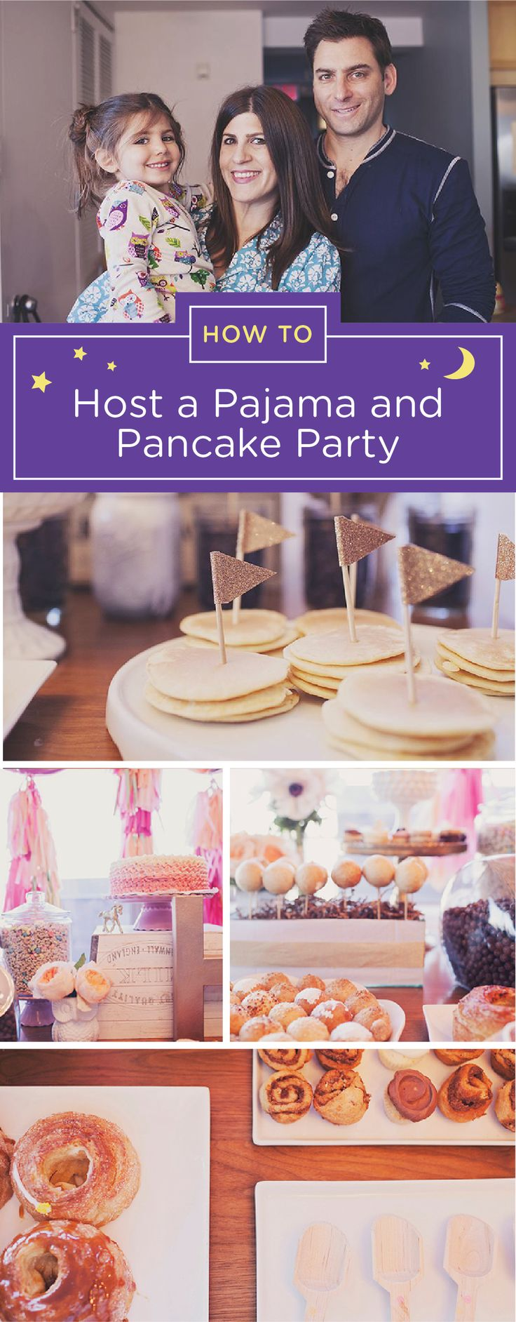 If your child has been talking about having a sleepover party but isn't quite ready yet, this pancake pajama party may be the perfect alternative. Spending the night is optional and fun can still be had by all. Set up a DIY pancake bar and invite guests to come dressed in their coziest pjs. If your kid does decide to turn it into a sleepover, be sure to have her wear GoodNites Bedtime Pants so she's protected against any nighttime bedwetting that may happen.