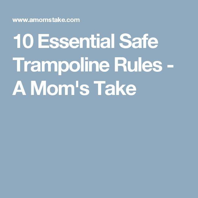 10 Essential Safe Trampoline Rules - A Mom's Take