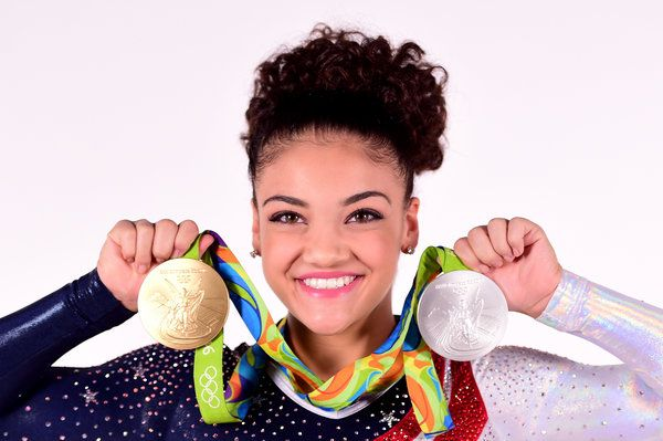 Laurie Hernandez absolutely crushed it at her first-ever Olympic games. The bubbly teen, who was the first U.S.-born Latina She is of Puerto Rican descent and lives in Old Bridge Township, New Jersey. to join the U.S. Olympic gymnastics team since 1984 and the youngest member of the the #FinalFive, won a gold medal in the team all-around final and a silver medal during the women's beam competition.