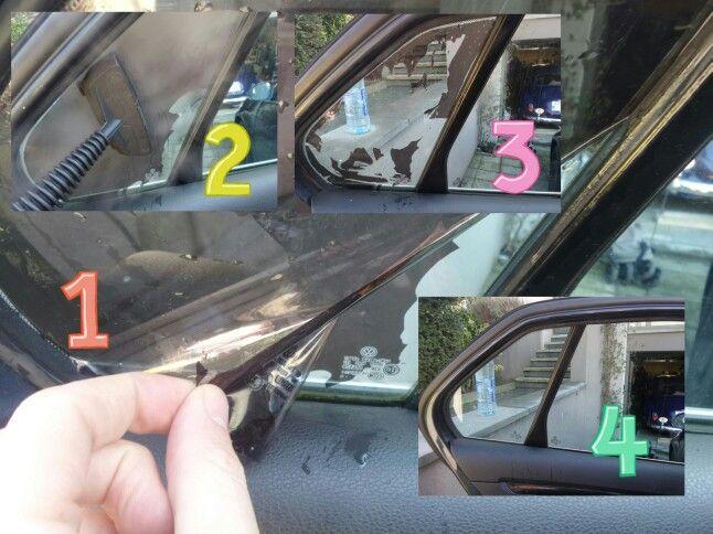 Comment enlever un film vitre teintée  avec un nettoyeur vapeur