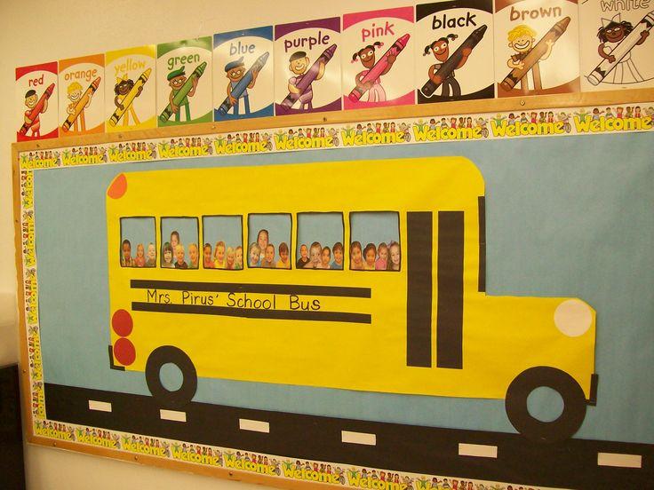 back to school bulletin board - so cute!