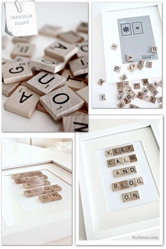 DIY: Make your own Scrabble Picture - Click image to find more hot Pinterest pins