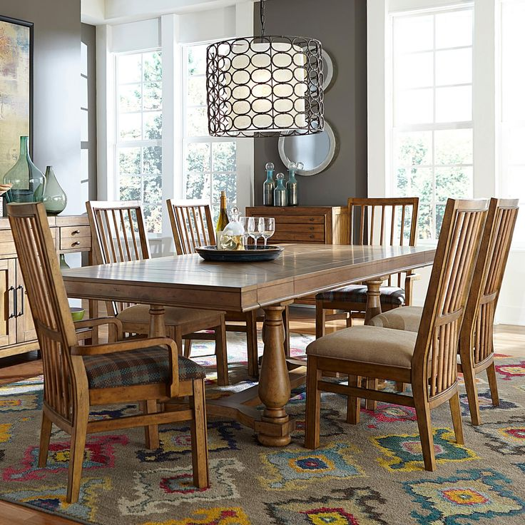 dining set dining sets dining room broyhill furniture trestle table