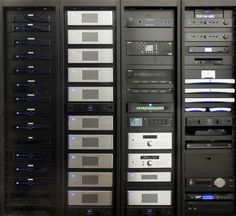 This home technology equipment rack is no joke! More at http://www.cedia.org/inspiration-gallery/transitional-design | Transitional Design | CEDIA Connected Smart Home Ideas