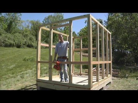 How To Build a Level Shed, tiny houses, barn foundation, platform by Jon Peters…