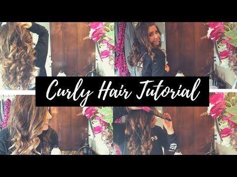Curly hair tutorial -- #hair #hairblog #hairblogger #curls #curlyhair #hairtips #cutecurls #hairtutorial #curlyhairtutorial #hairguru #beauty #beautifulcurls #balayage