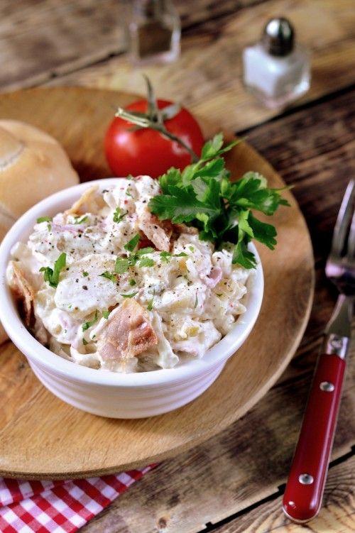 Majonézes krumplisaláta pirított szalonnával