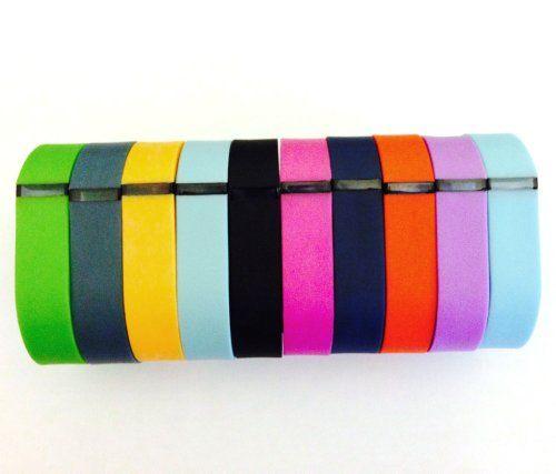 Set 10 Colors Large L Replacement Bands for Fitbit FLEX Only With Clasps /No tracker/ 1pc Orange 1pc Violet 1pc Red (Tangerine) 1pc Teal (Blue/Green) 1pc Navy 1pc Green (Lime) 1pc Black 1pc Slate (Blue Grey) 1pc Purple/Pink 1pc Light Blue Bands Wireless Activity Bracelet Sport Wristband Fit Bit Flex Bracelet Sport Arm Band Clasp Armband PL http://www.amazon.com/dp/B00KFILTWU/ref=cm_sw_r_pi_dp_JjhUtb1HKYY2CKF7