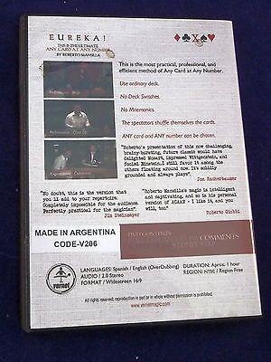 EUREKA ROBERTO MANSILLA DVD ANY CARD AT ANY NUMBER MAGIC TRICK ARGENTINA Collectibles:Fantasy, Mythical & Magic:Magic:Tricks www.webrummage.com $39.99
