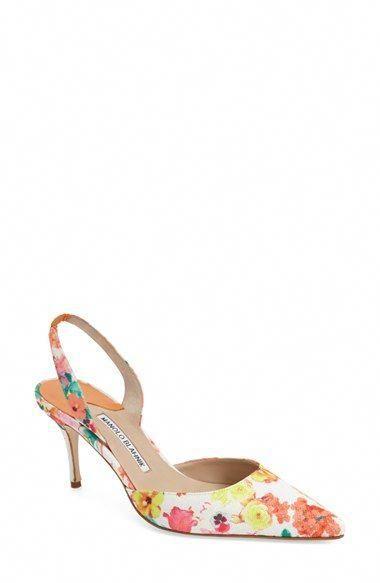 96b75f1049d MANOLO BLAHNIK  Carolyne  Pointy Toe Slingback Pump (Women).  manoloblahnik   shoes  pumps