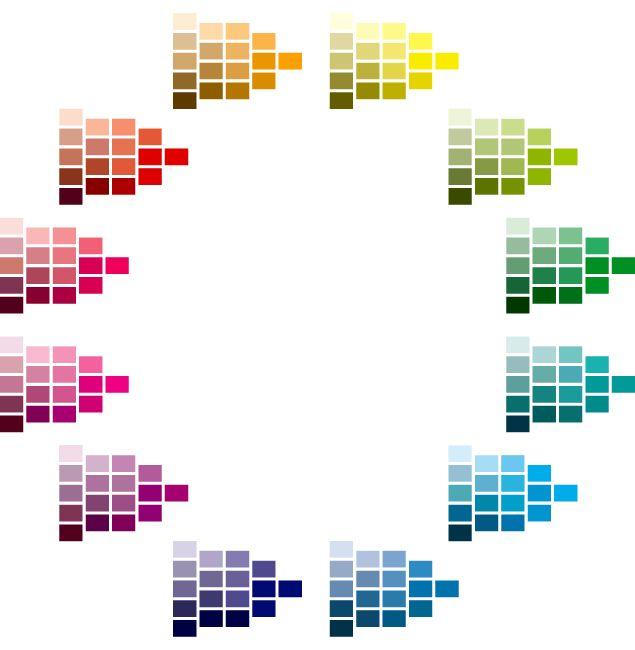 色相別の色表