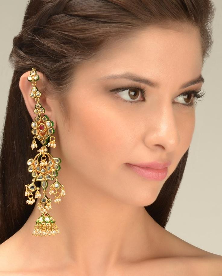 Noor Jahan Earrings  by Just Jewellery
