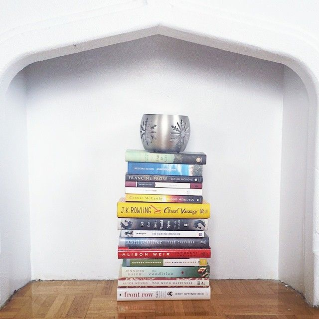 When you have so many books you have to use them as decoration...