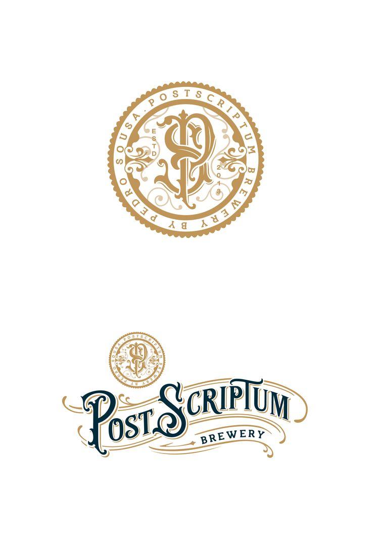 A monogram and brand logo design for a brewery.