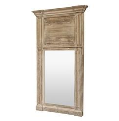 Remy French Country Cottage Door Trumeau Large Hall Mirror