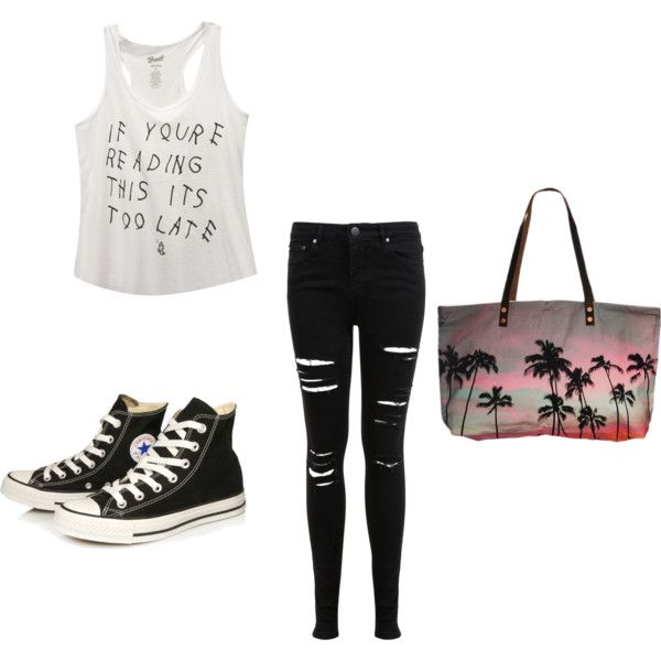 Vacation Outfit by grace-maloney on Polyvore featuring interior, interiors, interior design, home, home decor, interior decorating, Wet Seal, Miss Selfridge, Converse and Samudra