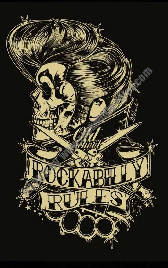 rock a billy illustration tattoos pinterest greaser psychobilly and rockabilly. Black Bedroom Furniture Sets. Home Design Ideas