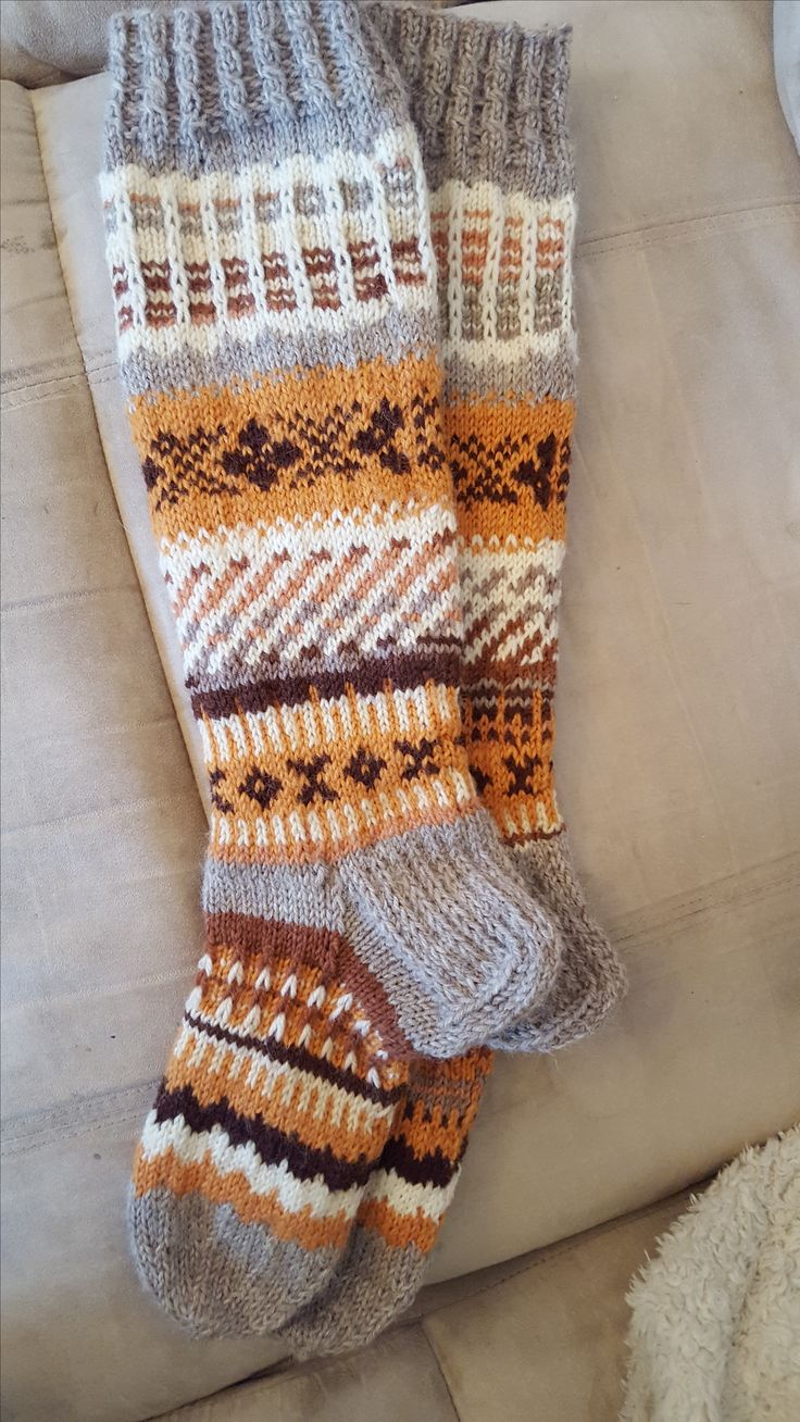 Knit socks made by me @satumaan