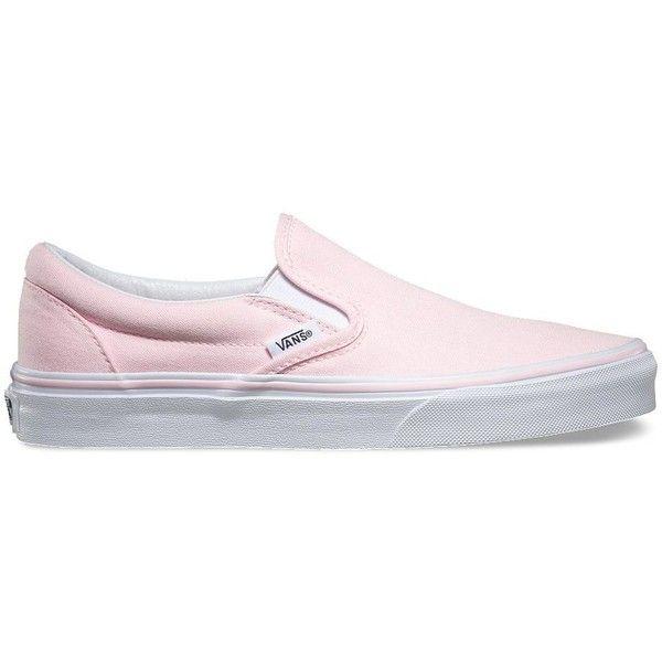 vans slip on pink