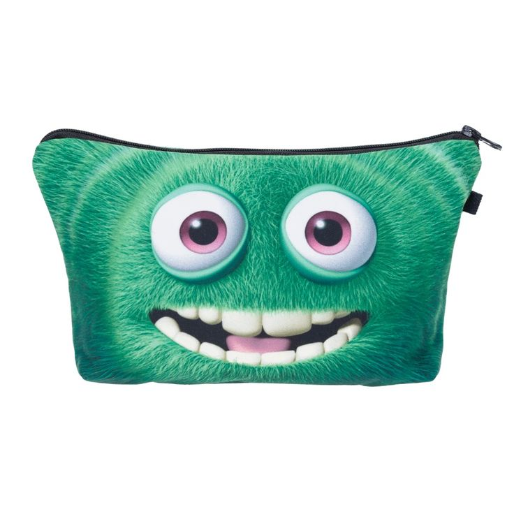 Find More Cosmetic Bags & Cases Information about Green monster  Cosmetic Bags 3D Printing Travel Makeup bag Fashion Small bags Gift trousse de maquillage make up bag pencil case,High Quality case closed bags,China bag diaper Suppliers, Cheap case from who cares luggage & bags store on Aliexpress.com