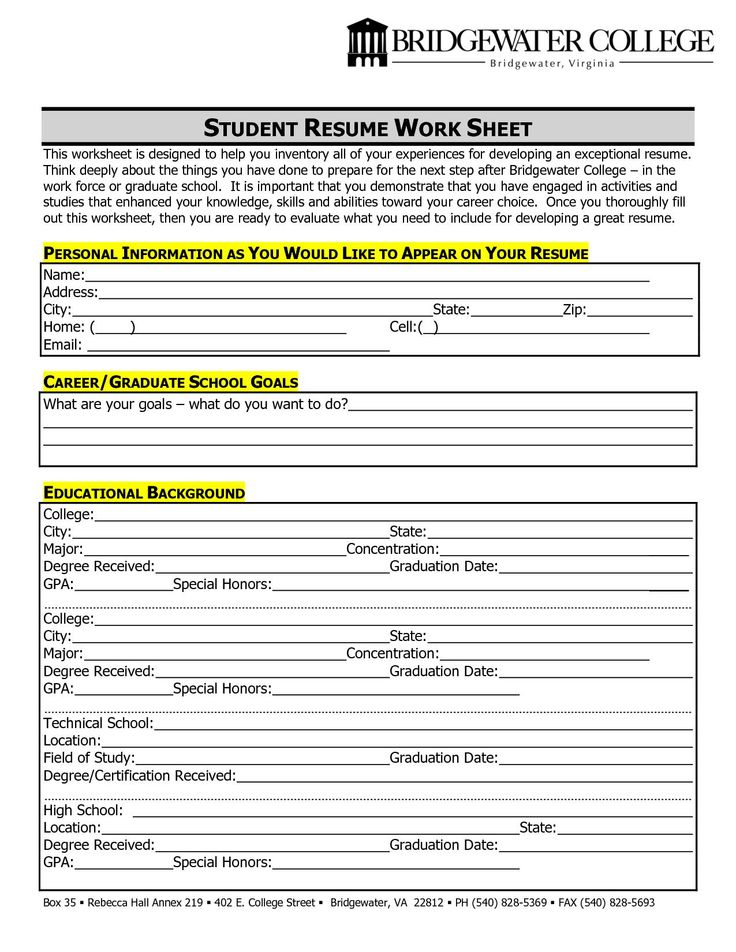 Basic Resume Examples For Students | Resume Examples And Free
