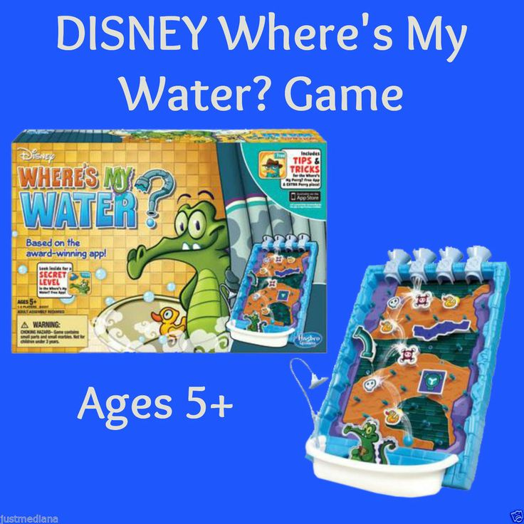 Disney Where's My Water? Game - Based On The Award Winning App! - Fun!  Ages 5+ - May 14, 2014 - $18.49 - #FreeShipping