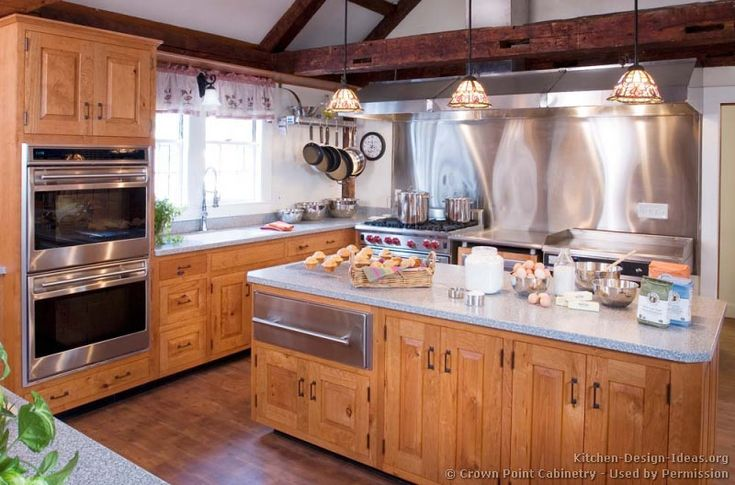 island with warming drawer | Pictures of Kitchens - Traditional - Light Wood Kitchen Cabinets ...