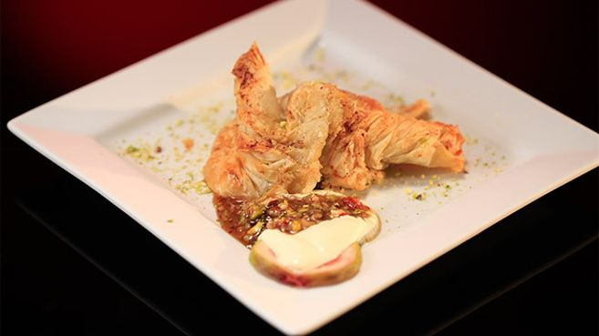 Pharaoh's Money Bags - Mascarpone and Fig Filo Pastry