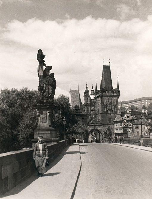 Josef Drahomír Růžička (1870 - 1960) PRAGUE, CHARLES BRIDGE, 1921