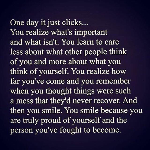 One day it just clicks...