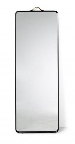 Lustro Norm Floor Mirror Black Menu