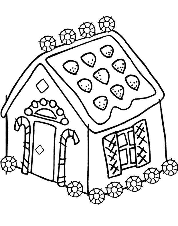 Coloring Gingerbread House Coloring Pages House