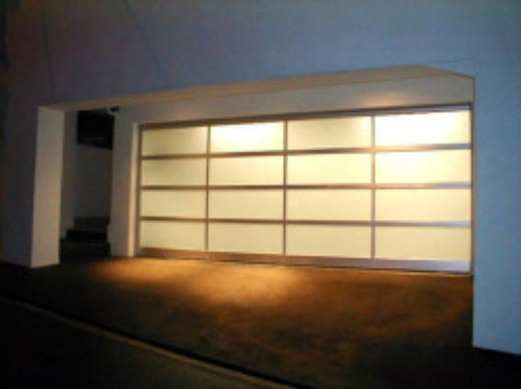 modern glass garage door backlitejpg