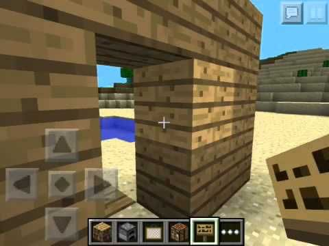 minecraft how to make a secret button door
